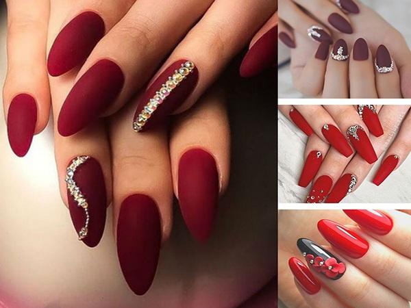Bạn thích mẫu nail cô dâu màu đỏ nào trong số này?