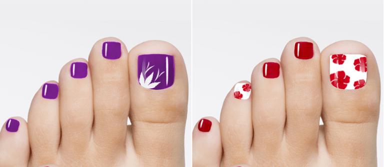 Một vài cánh hoa ở ngón chân cái cho bàn chân thêm xinh