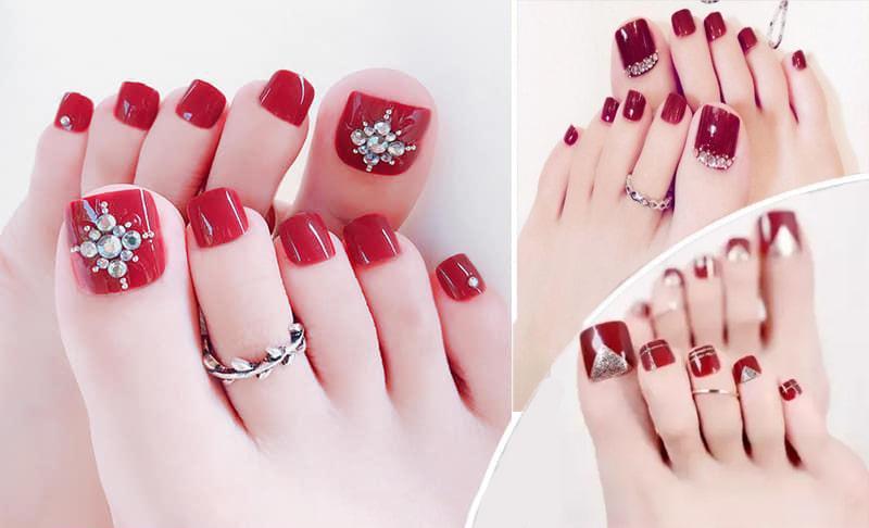 Một số kiểu sơn gel màu đỏ xinh xắn