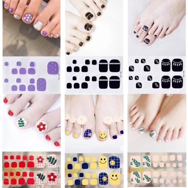 Sticker dán móng có bán nhiều trên thị trường với mẫu mã đa dạng cho bạn lựa chọn